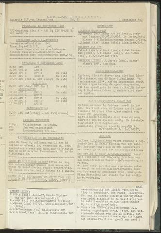 Bulletins (vnl. opstellingen) 1953-09-01