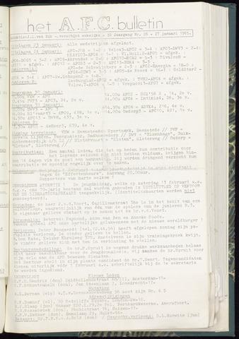 Bulletins (vnl. opstellingen) 1965-01-27