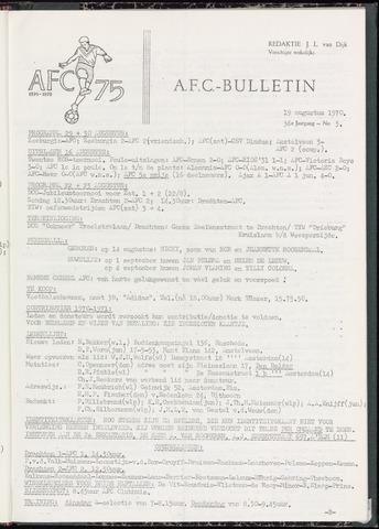 Bulletins (vnl. opstellingen) 1970-08-19