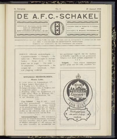 Schakels (clubbladen) 1928