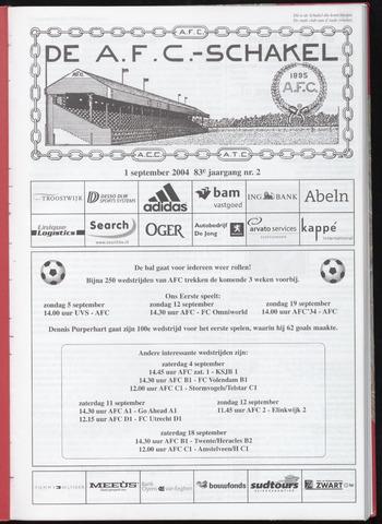 Schakels (clubbladen) 2004-09-01