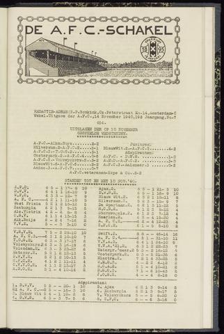 Schakels (clubbladen) 1940-11-14