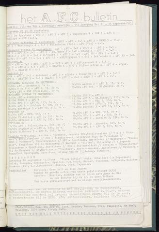 Bulletins (vnl. opstellingen) 1965-09-15