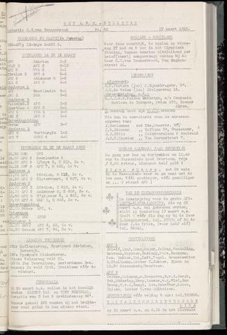 Bulletins (vnl. opstellingen) 1959-03-18