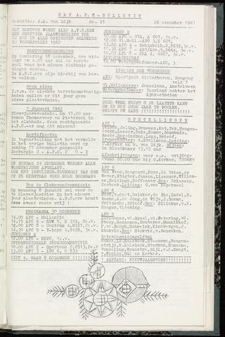 Bulletins (vnl. opstellingen) 1961-12-26