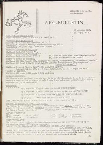 Bulletins (vnl. opstellingen) 1969-08-20