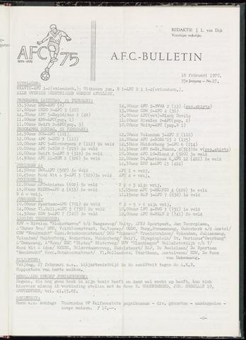 Bulletins (vnl. opstellingen) 1970-02-18