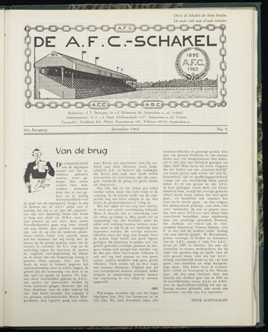 Schakels (clubbladen) 1963-12-01
