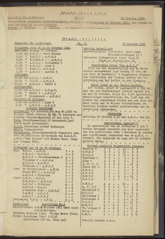 Bulletins (vnl. opstellingen) 1946-10-23