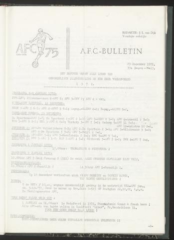 Bulletins (vnl. opstellingen) 1971-12-29