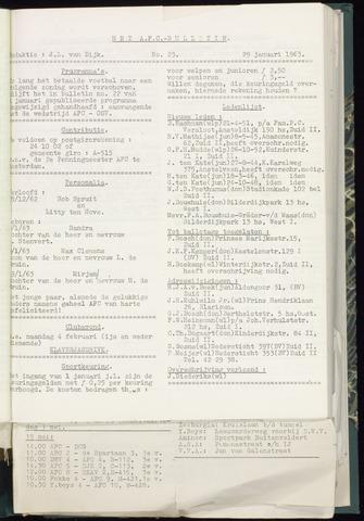 Bulletins (vnl. opstellingen) 1963-01-29