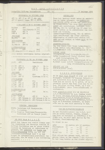 Bulletins (vnl. opstellingen) 1952-10-07