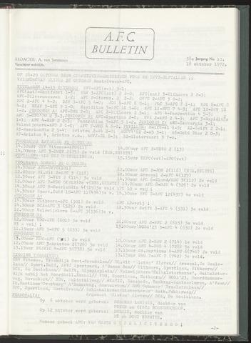 Bulletins (vnl. opstellingen) 1972-10-18