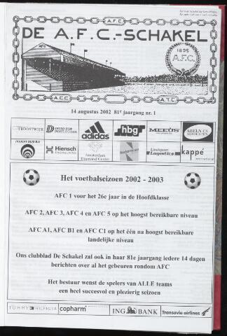 Schakels (clubbladen) 2002-08-14