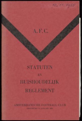 Statuten en reglementen 1955-11-30