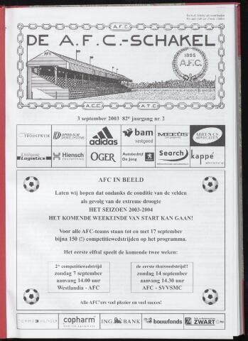 Schakels (clubbladen) 2003-09-03
