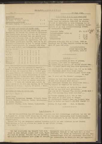 Bulletins (vnl. opstellingen) 1946-06-27