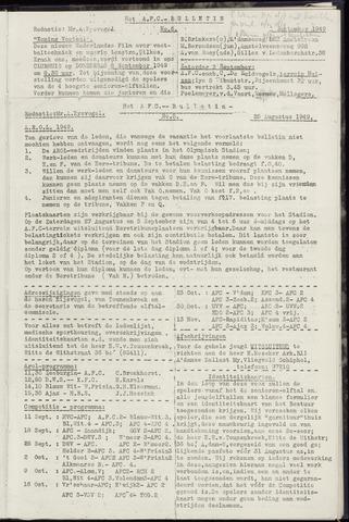 Bulletins (vnl. opstellingen) 1949-08-25