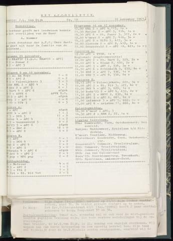 Bulletins (vnl. opstellingen) 1963-11-06