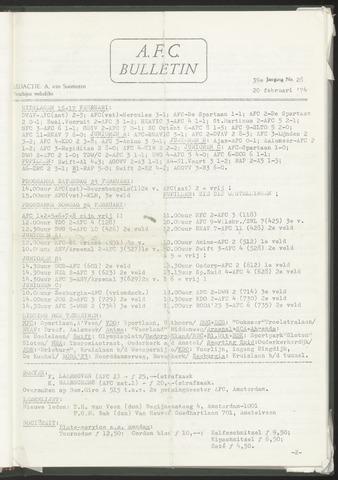 Bulletins (vnl. opstellingen) 1974-02-20