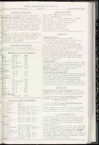 Bulletins (vnl. opstellingen) 1960-09-13
