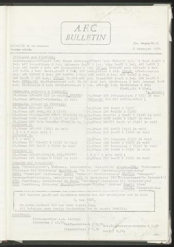 Bulletins (vnl. opstellingen) 1974-02-06