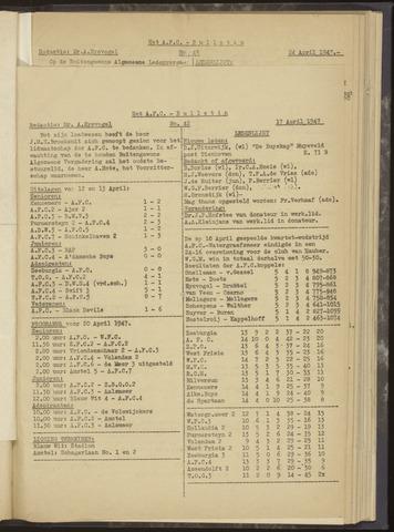 Bulletins (vnl. opstellingen) 1947-04-17