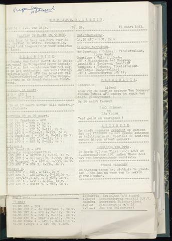 Bulletins (vnl. opstellingen) 1963-03-13
