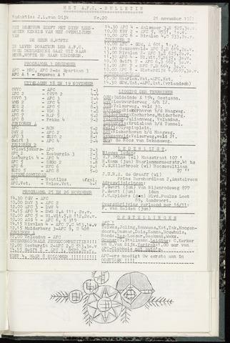 Bulletins (vnl. opstellingen) 1961-11-21