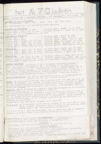 Bulletins (vnl. opstellingen) 1964-12-09
