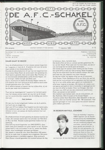 Schakels (clubbladen) 1983-08-17