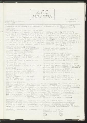 Bulletins (vnl. opstellingen) 1973-09-12