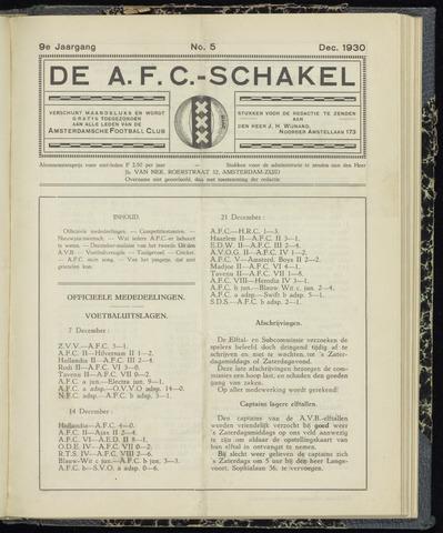 Schakels (clubbladen) 1930-12-01