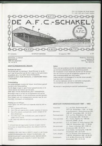 Schakels (clubbladen) 1981-08-12