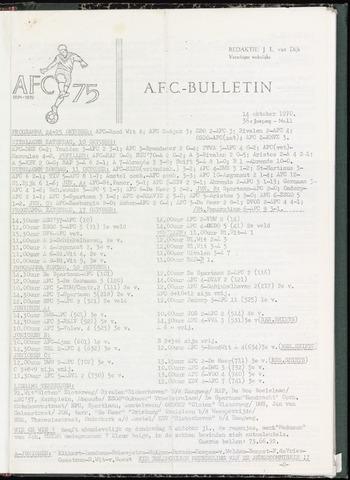 Bulletins (vnl. opstellingen) 1970-10-14