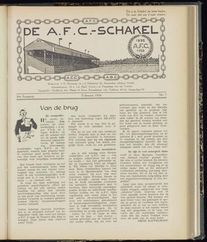 Schakels (clubbladen) 1958-02-01