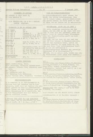 Bulletins (vnl. opstellingen) 1958-01-07