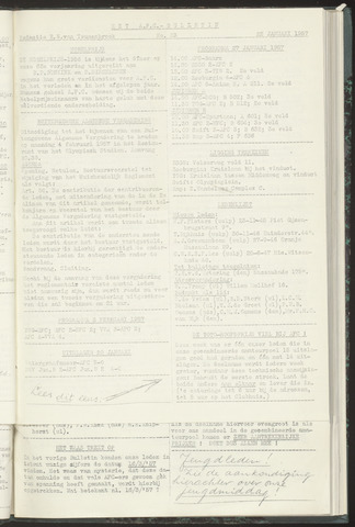 Bulletins (vnl. opstellingen) 1957-01-22