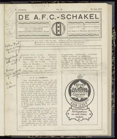 Schakels (clubbladen) 1927-07-22