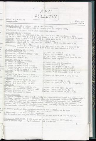 Bulletins (vnl. opstellingen) 1967-11-15