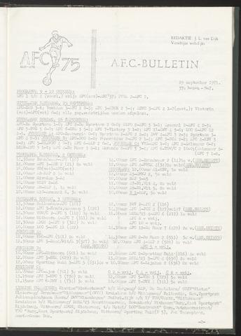 Bulletins (vnl. opstellingen) 1971-09-29
