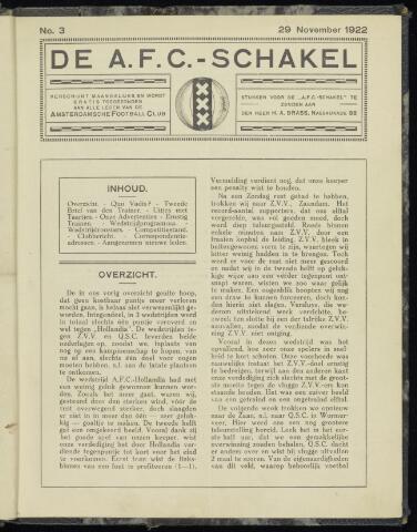 Schakels (clubbladen) 1922-11-29
