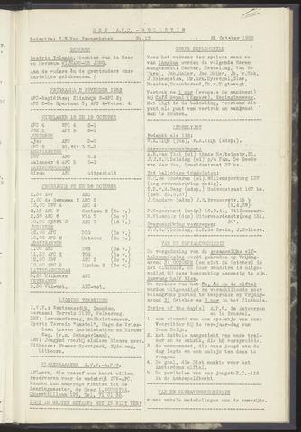 Bulletins (vnl. opstellingen) 1952-10-21