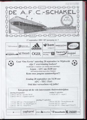 Schakels (clubbladen) 2003-09-17