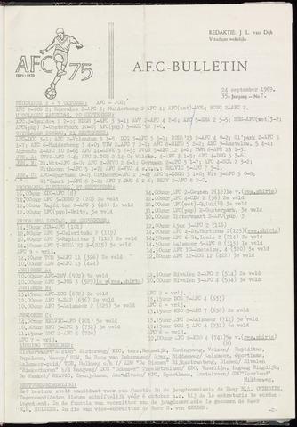 Bulletins (vnl. opstellingen) 1969-09-24