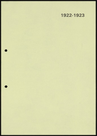 Jaarverslagen 1923-06-01