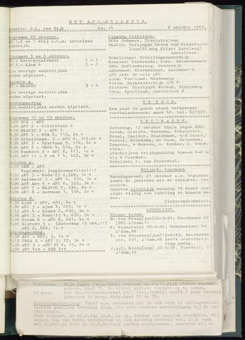 Bulletins (vnl. opstellingen) 1963-10-02