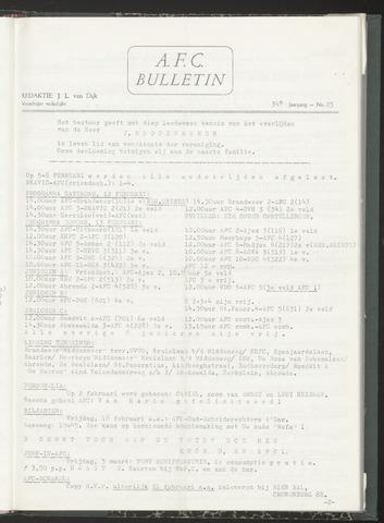 Bulletins (vnl. opstellingen) 1972-02-09