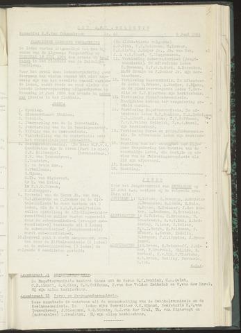 Bulletins (vnl. opstellingen) 1954-06-08