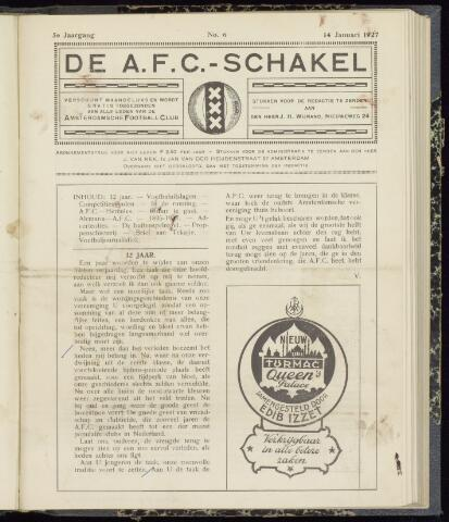 Schakels (clubbladen) 1927